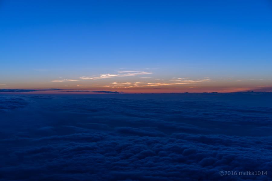 富士山の御来光直前