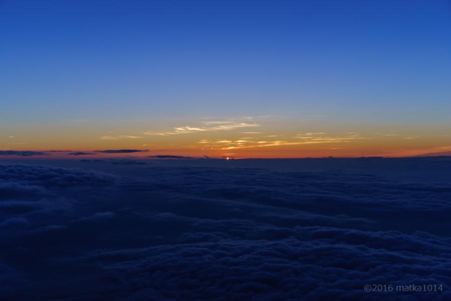 富士山登山御来光直前
