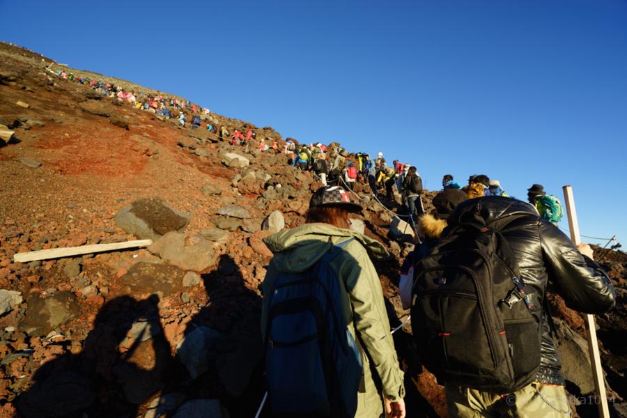 富士山登山の混雑具合