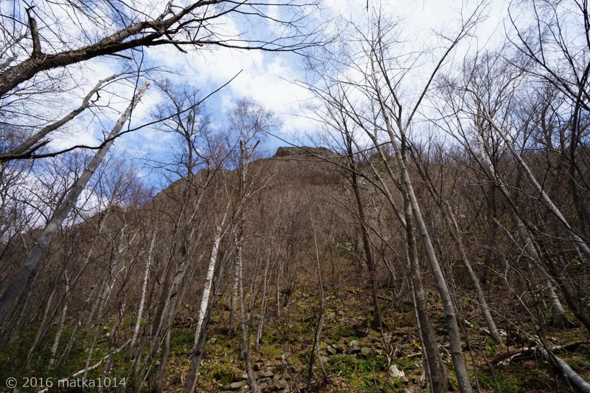 八剣山山頂を臨む