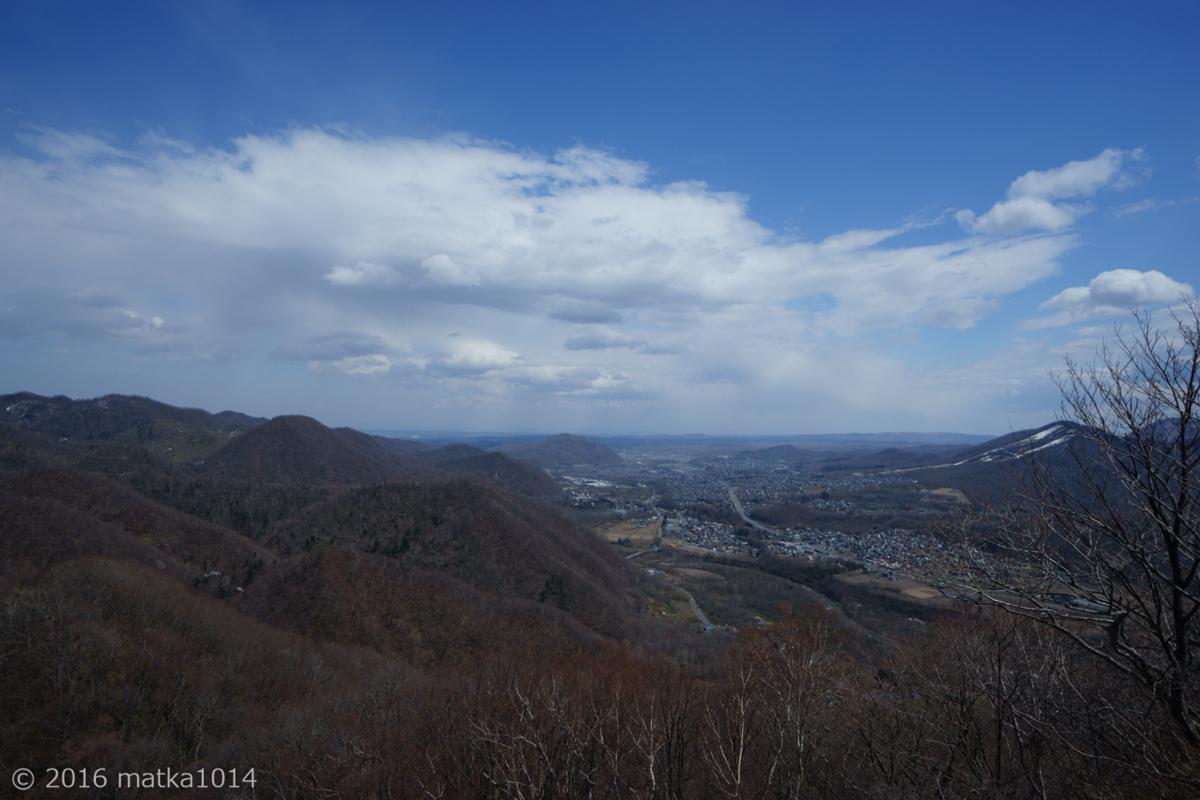 八剣山山頂からの眺め 札幌方面