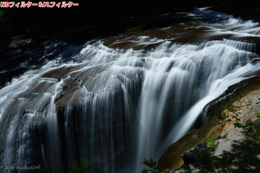 白扇の滝 NDフィルター PLフィルター
