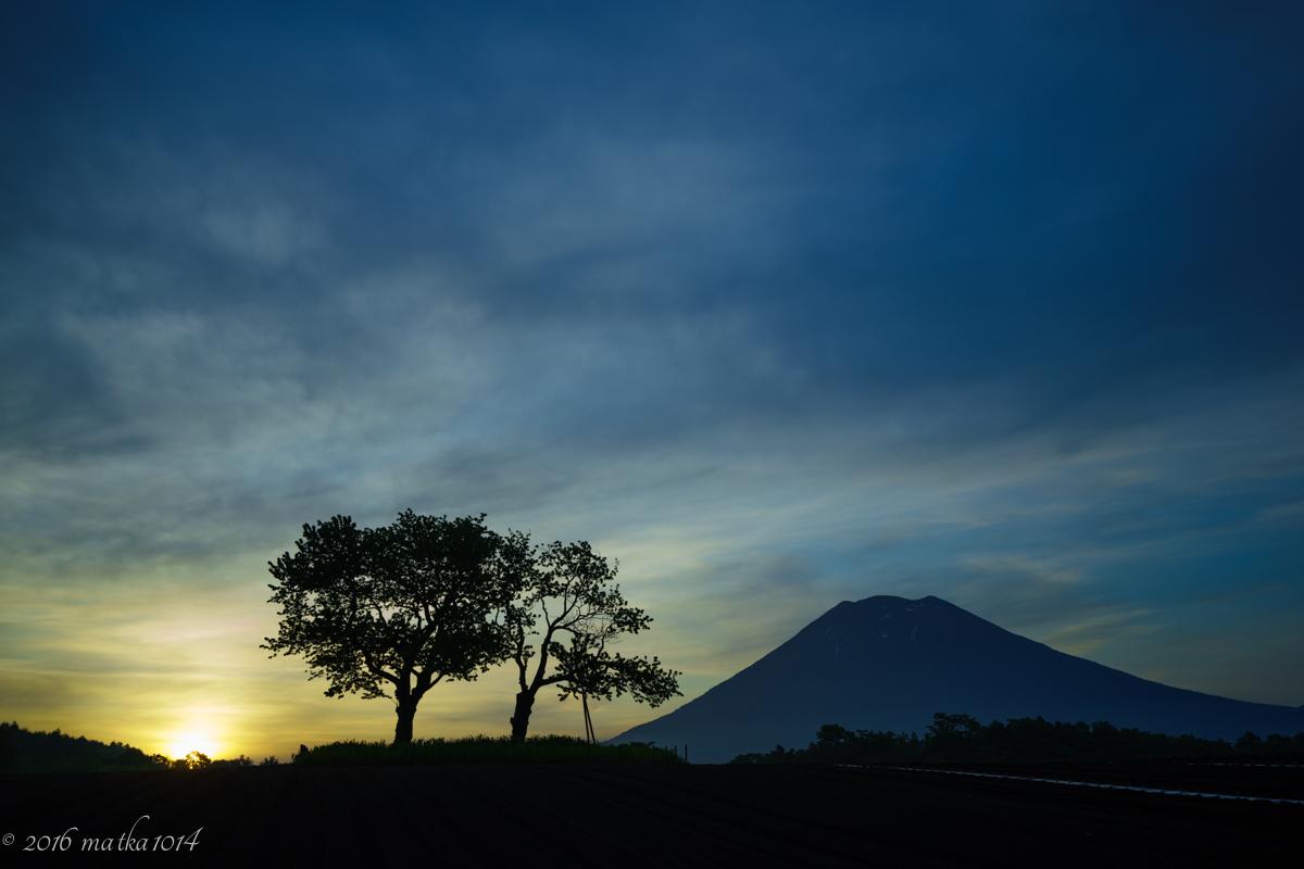 羊蹄山の朝