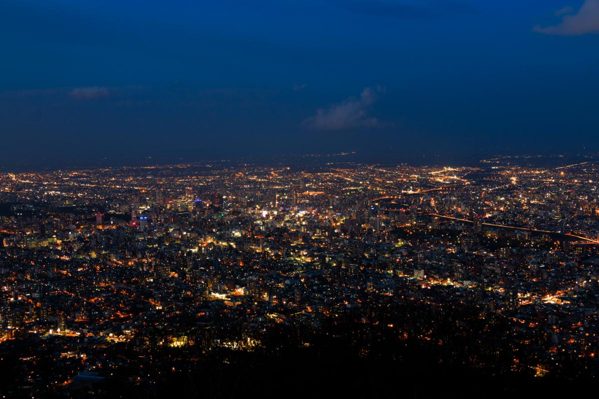 藻岩山からの札幌夜景が絶景