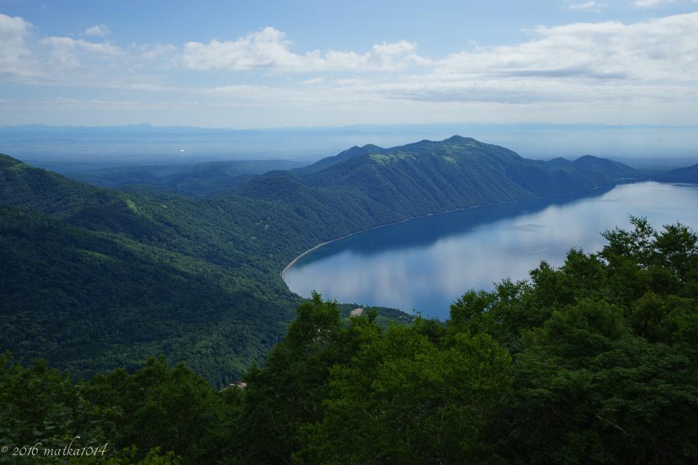恵庭岳からみる支笏湖