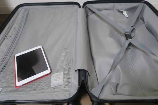 無印良品のスーツケースの中蓋仕様