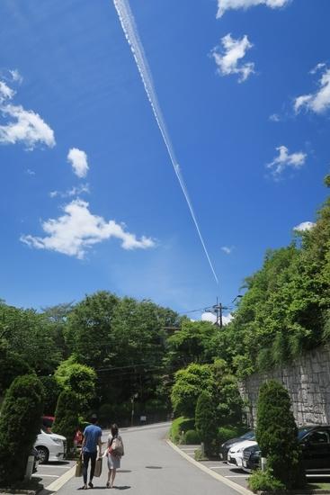 箱根の宿の駐車場