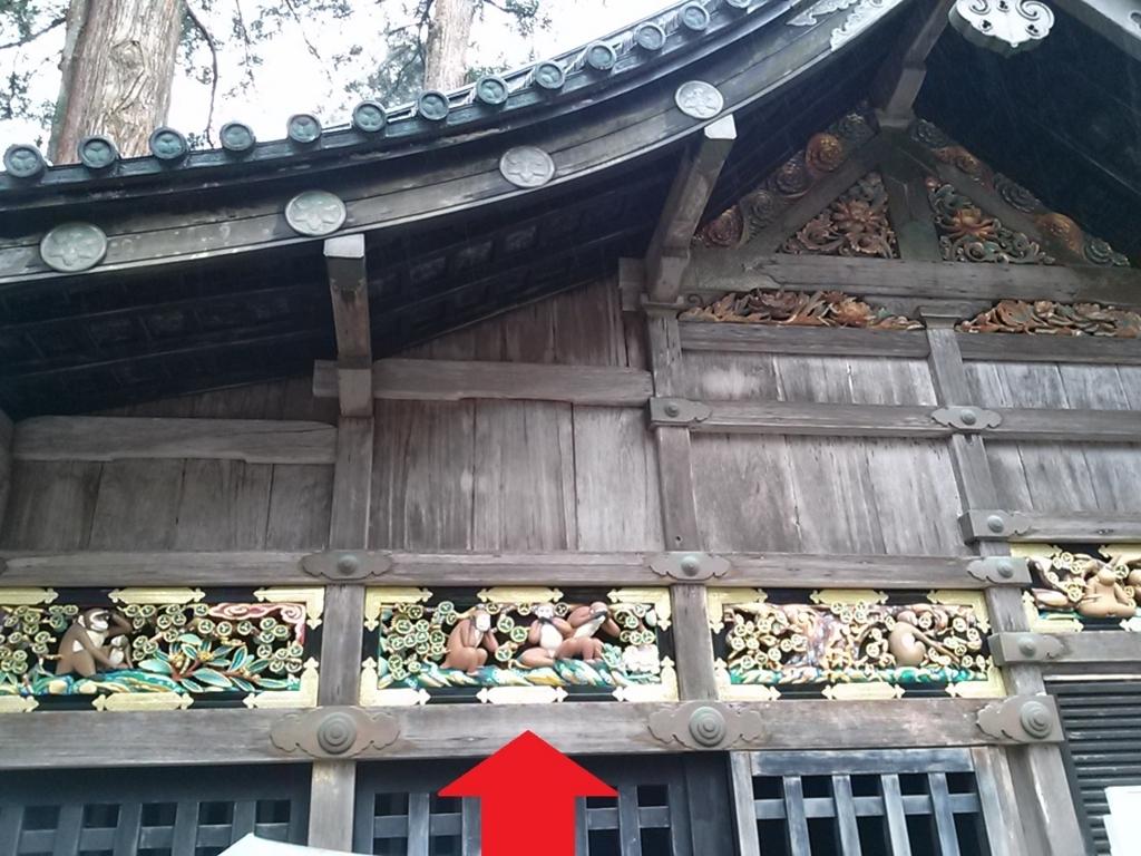三猿 東照宮 画像