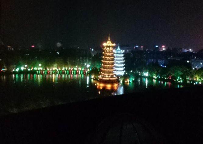 漓江大瀑布飯店 夜景