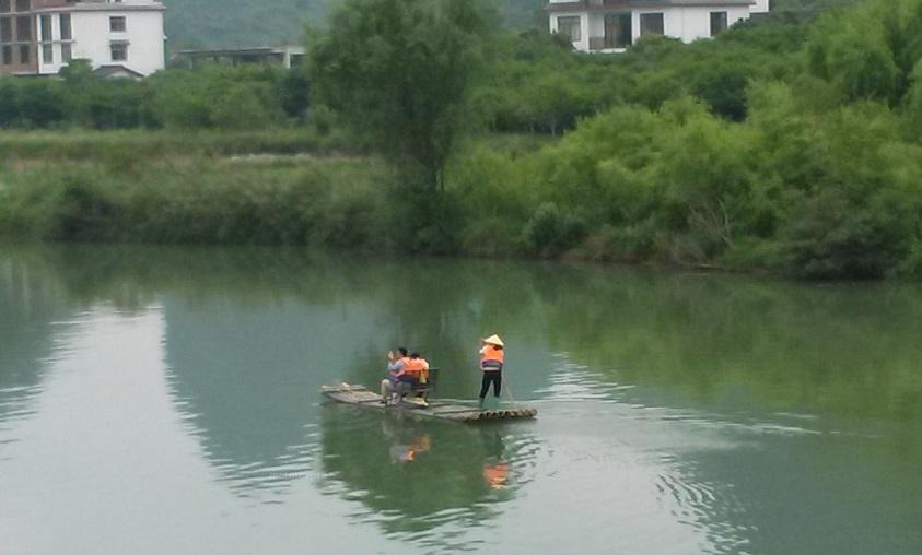 中国桂林 高田郷 川下り
