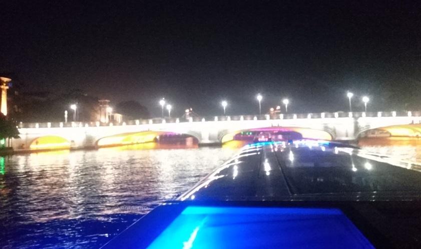 両江四湖 ナイトクルーズ 橋