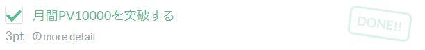 1万PV ブログチャレンジ