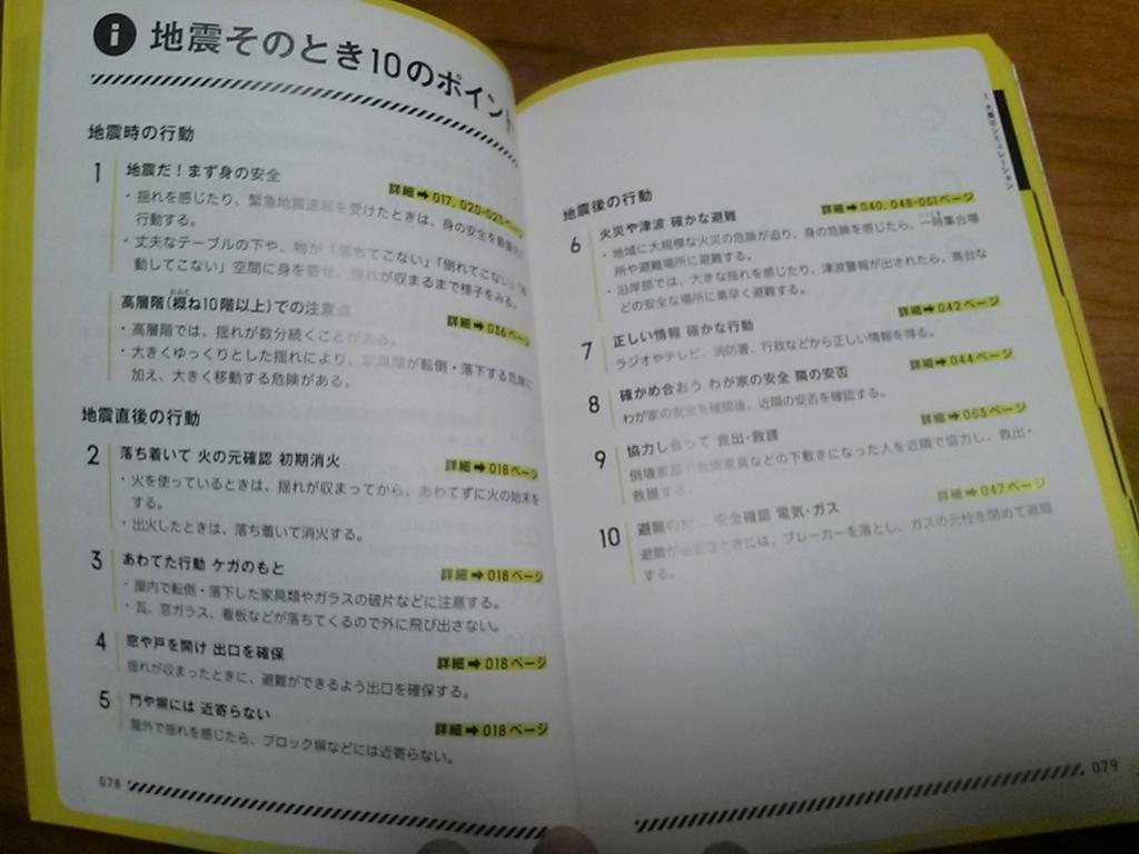 東京防災 内容2