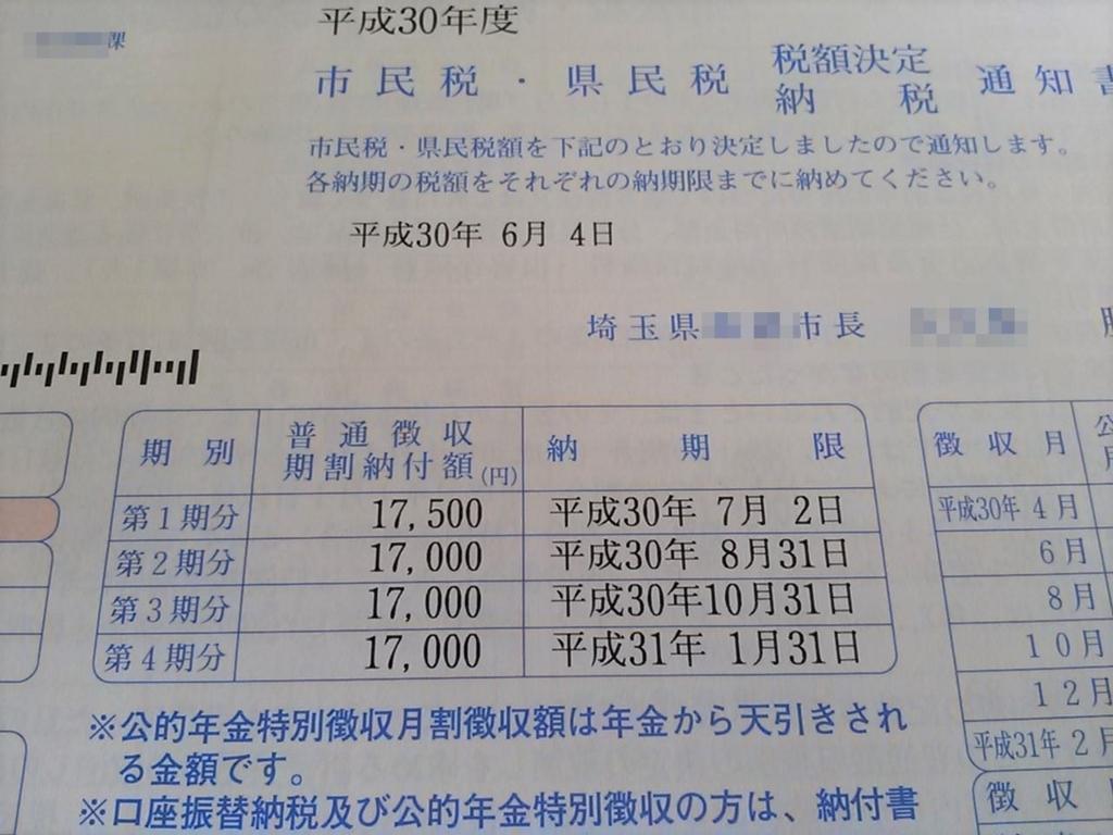 納税通知書 埼玉