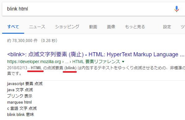 blink html 画像