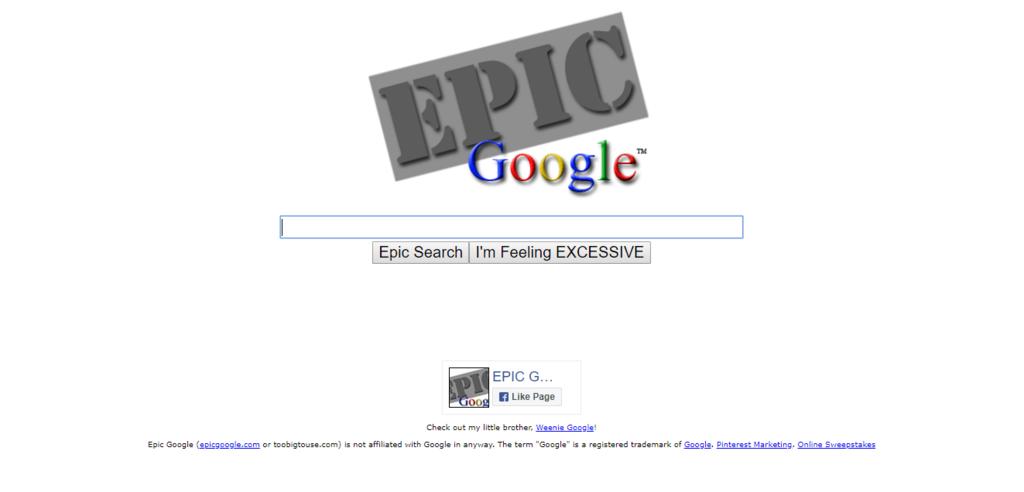 EPIC GOOGLE 最初 画像