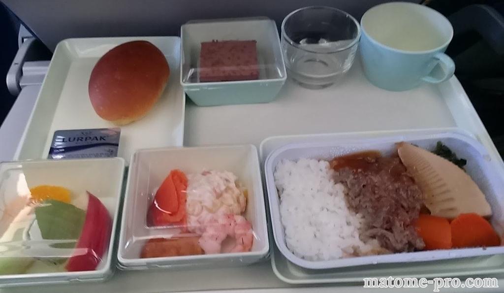 ベトナム航空の機内食 画像