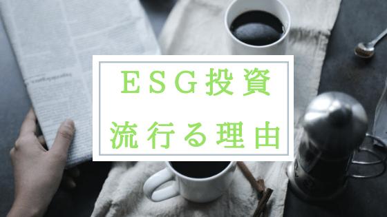 ESG投資 流行 理由 テーマ