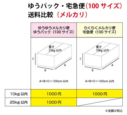 100サイズのメルカリ送料比較