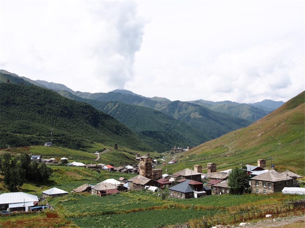 ウシュグリ村の風景