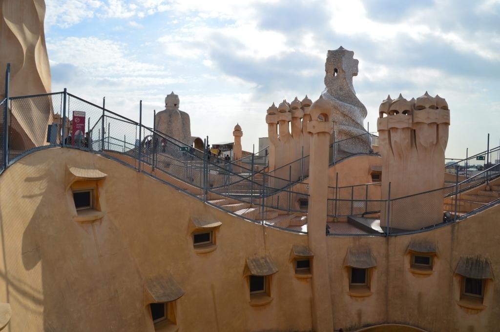 カサ・ミラの屋上