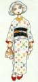 ルイヴィトンモノグラムマルチカラーの小紋の着物