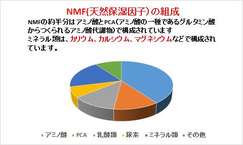 NMF(天然保湿因子)の組成 詳細版