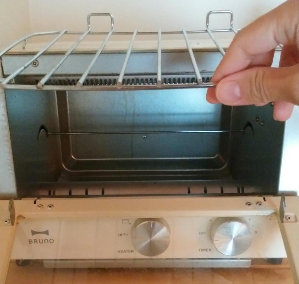 網を外したオーブントースター