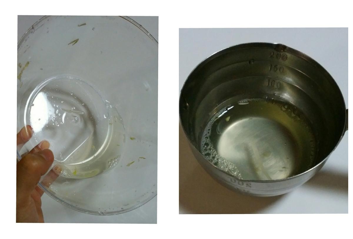 サラダスピナーで切れた水