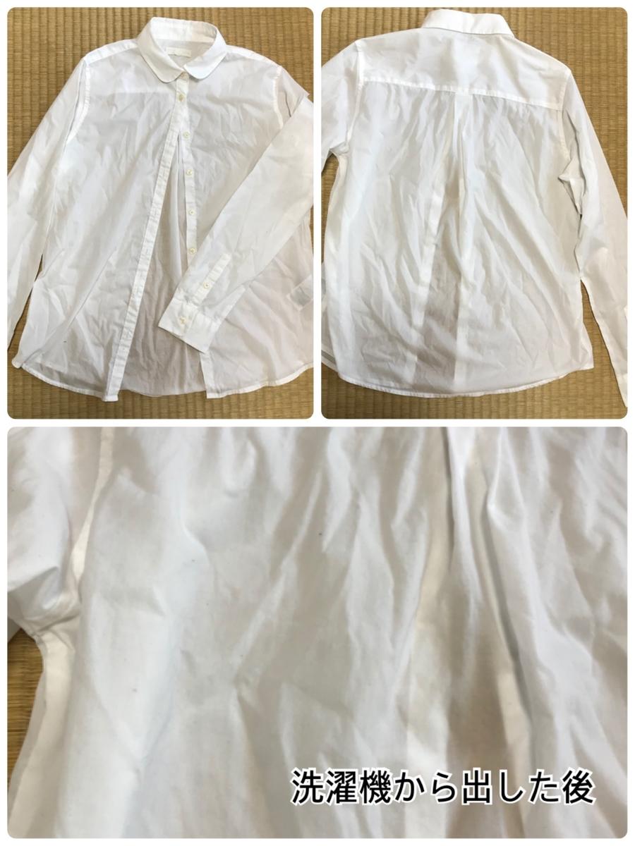 洗濯直後のコットンシャツ