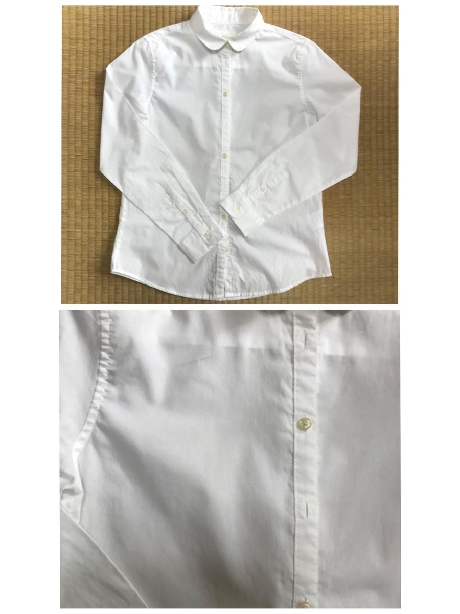 アイロンをかけた後のコットンシャツ