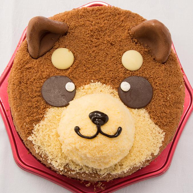 犬のケーキがかわいくて美味しそう