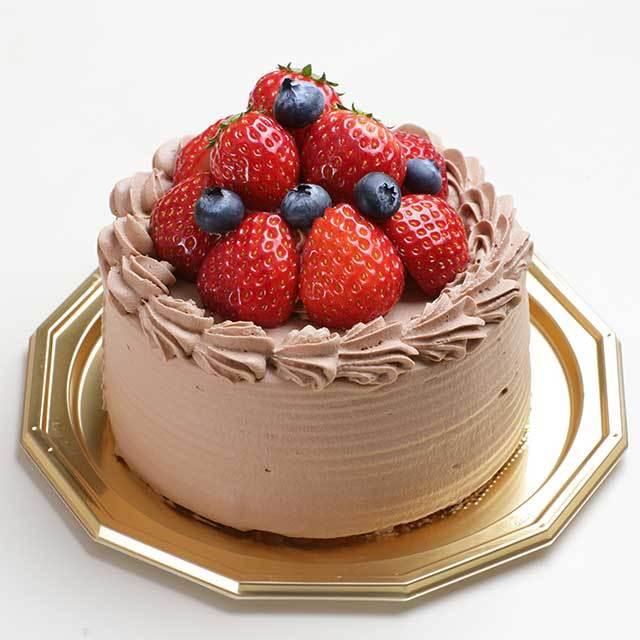 ベリーベリーデコレーションケーキ(チョコ)