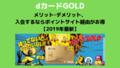 dカード GOLD メリット・デメリット、ポイントサイト経由がお得