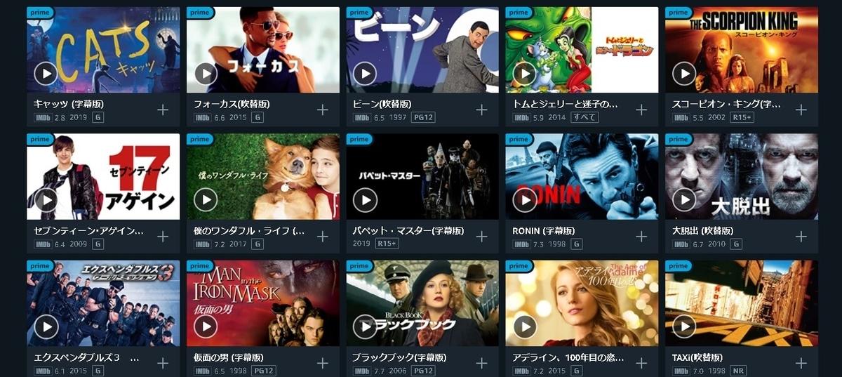 アマゾンプライム海外映画例
