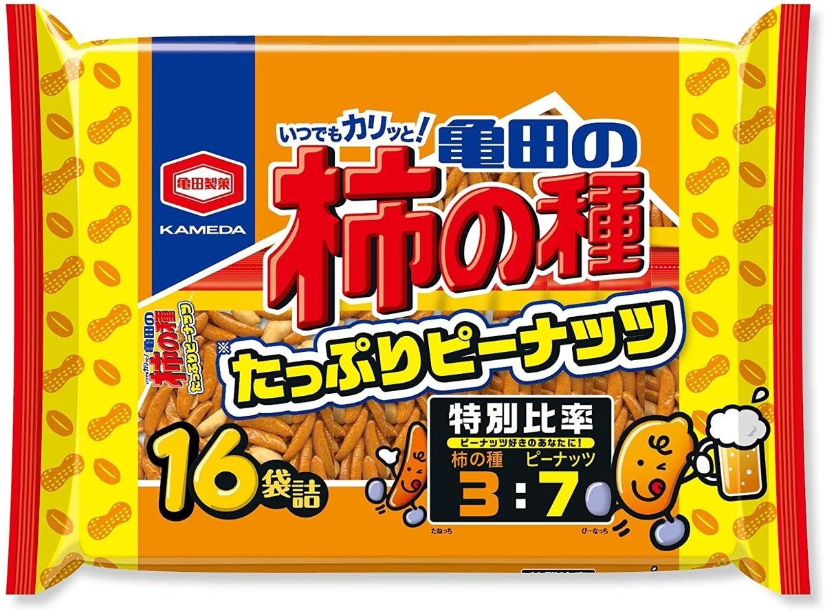 亀田製菓 亀田の柿の種たっぷりピーナッツのイメージ画像