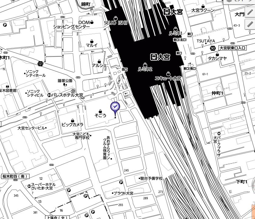 Yahoo!地図のモノトーン
