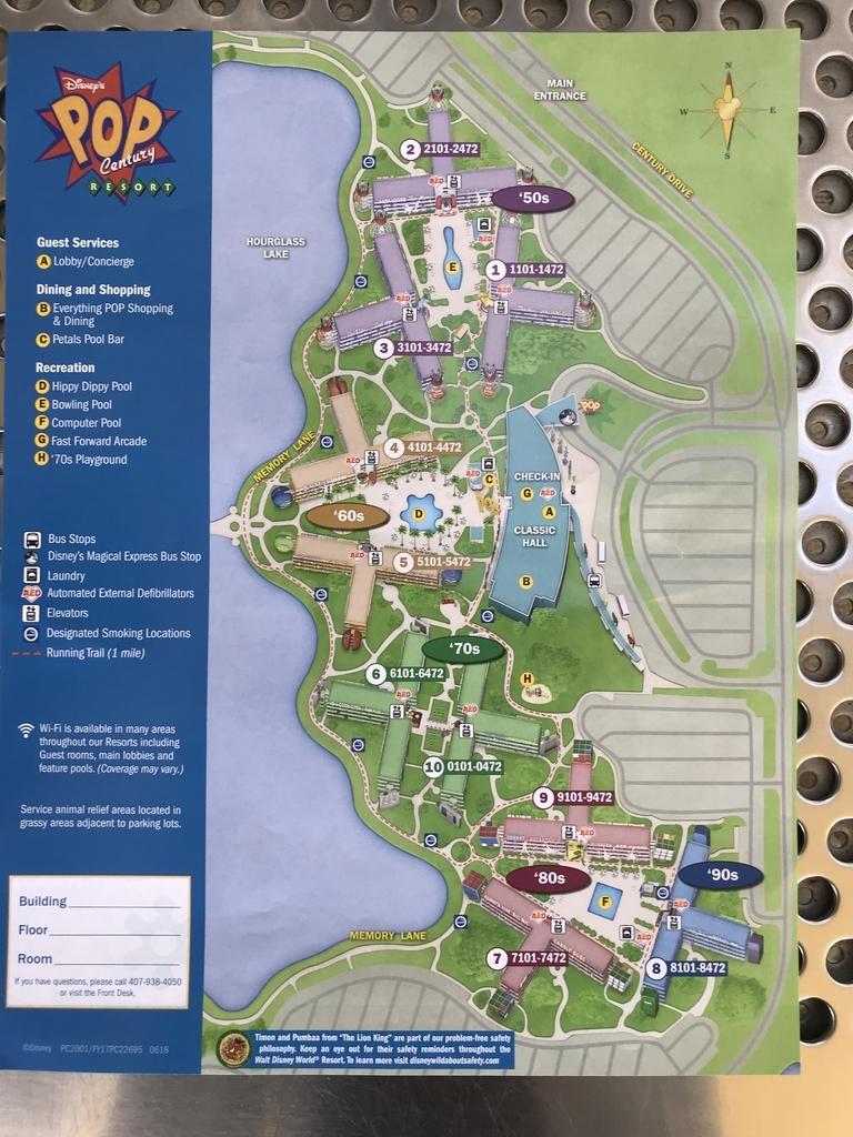ポップセンチュリーリゾートホテルの地図