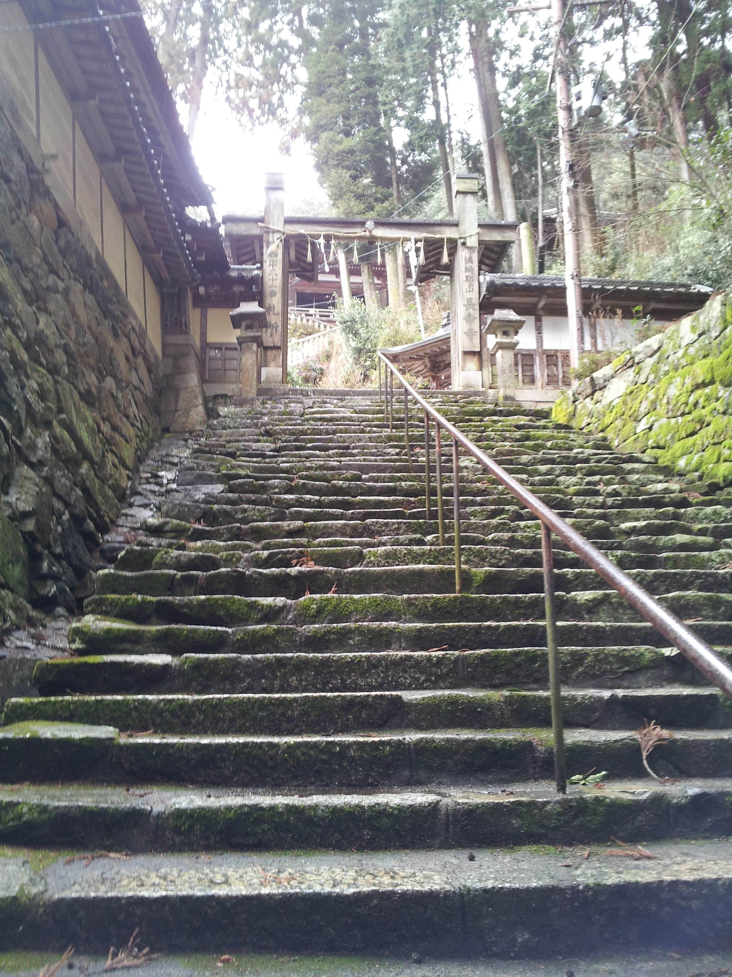 長命寺の長い階段