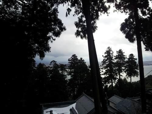長命寺からの琵琶湖一望の景色