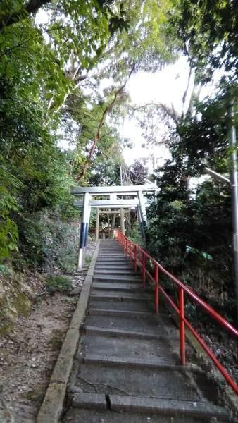 朝護孫子寺の空鉢護法堂への階段