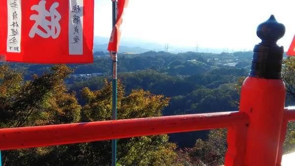朝護孫子寺の空鉢護法堂からの景色