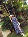 花柄ロングカジュアルレディースマキシワンピース