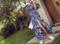 オフショルダー美しい花柄ロングカジュアルレディースマキシワンピー
