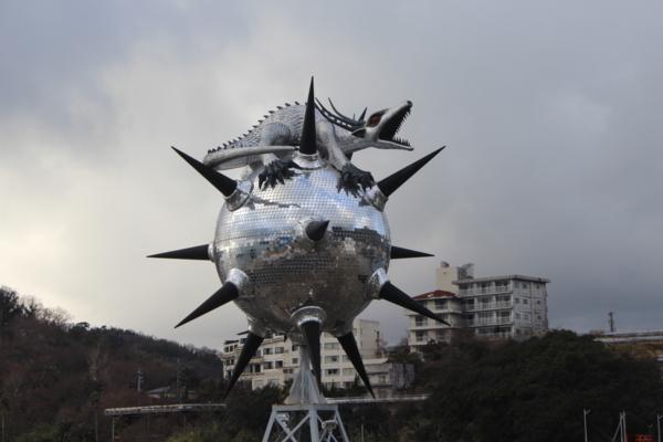 坂手港のシンボル ドラゴン