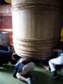 [sake][山口][蔵見学][五橋]岩国市の五橋(酒井酒造)で使っている木桶。