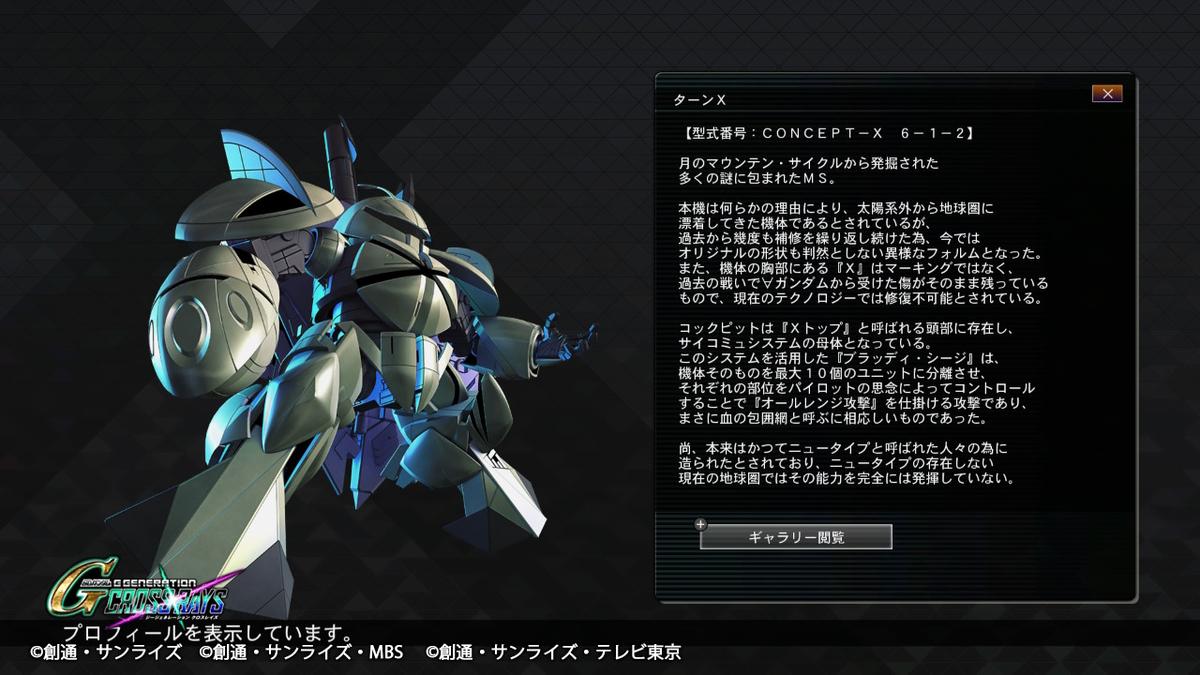 ターンX プロフィール