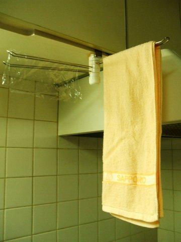 食器拭きタオル 干す