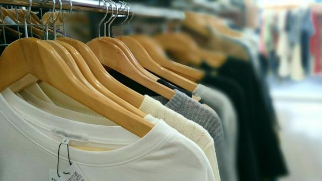 洋服の陳列