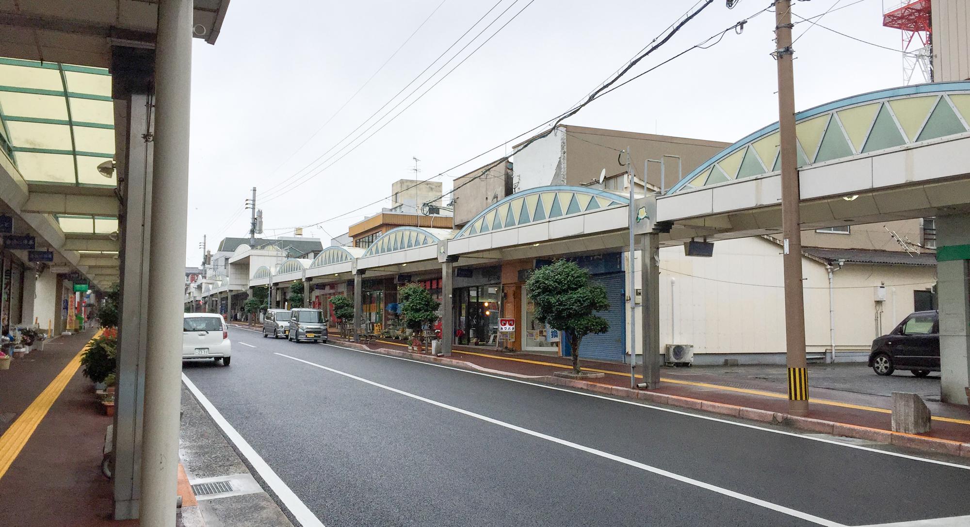 福江港周辺のメインストリート